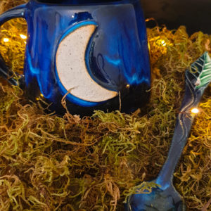 Witches Brew Moon Mug and Herb Spoon