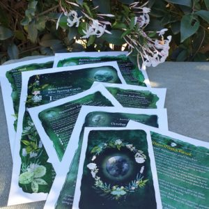 Spring Full Moon Ritual Journal Pages